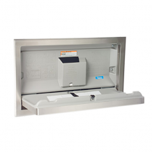 S/S RECESSED HORIZONTAL BABY CHANGING STATION