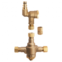 THERMOSTATIC MIXING VALVE & SINGLE INLET TEE FILTER ASSY KIT