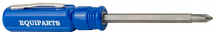 BLUE 2-IN-1 POCKET SCREWDRIVER