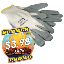COATED NYLON UTILITY GLOVES (MED)