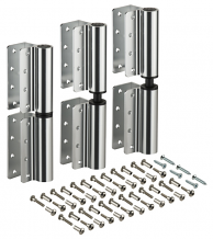 "INSWING/OUTSWING 8"" ALUM PARTITION HINGE SET OF 3"