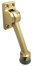 "4"" POLISHED BRASS KICKDOWN DOOR HOLDER"