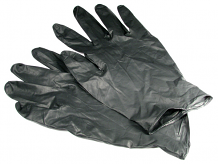 BLACK NITRILE GLOVES MEDIUM (25 PR)