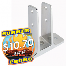 """DOUBLE EAR URINAL SCREEN BRACKET 1"""" x 3-1/2"""" FOR TOILET PARTITION"""