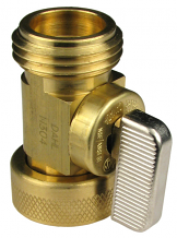 BRASS SWIVEL HOSE SHUT-OFF