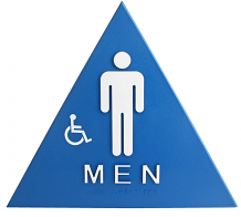 DOOR T-24 ADA MEN W/CHAIR SIGN