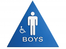 DOOR T-24 ADA BOY'S W/CHAIR & BRAILLE SIGN