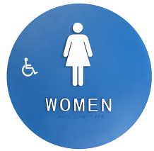 DOOR T-24 ADA WOMEN W/CHAIR SIGN