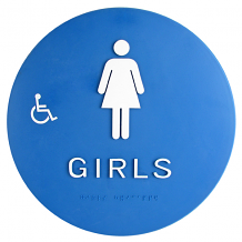 DOOR T-24 ADA GIRLS W/CHAIR & BRAILLE SIGN
