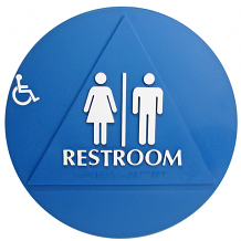 DOOR T-24 ADA RESTROOM W/CHAIR SIGN