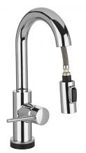 TRINSIC SINGLE HANDLE PULL-DOWN BAR SINK FAUCET
