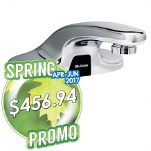 "OPTIMA PLUS 4"" CENTER FAUCET - 0.5 GPM (BATTERY POWERED)"