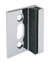STRIKE & KEEPER CP FOR ANY THICKNESS OR MATERIAL - USED WITH CONCEALED LATCH ROUND BAR