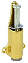 POL BRASS PLUNGER DOOR STOP