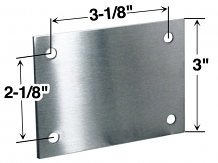 HOLE COVER PLATE W/SCREWS - STAINLESS STEEL- FOR PARTITION