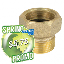 """3/4"""" F HOSE X 3/4 MIPS ADAPTER"""