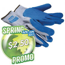 COATED COTTON/POLY GLOVES LG