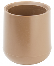 "1"" OD HEAVY DUTY INSTITUTIONAL TAN POLY TIP"