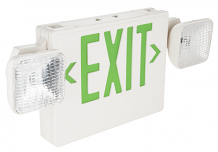 EMERGENCY / EXIT LIGHT W/ BACK-UP