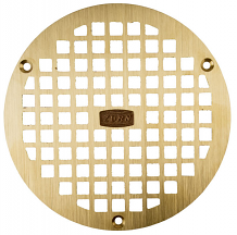 "6"" BRONZE FINISH DRAIN GRATE"