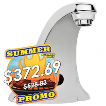 """4"""" BATTERY SINGLE INLET LAV E-FAUCET 0.5 GPM"""