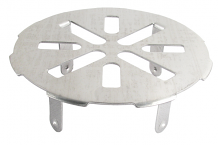 S/S SNAP-IN DRAIN COVER 3""