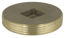 BRASS PLUG - IPS COUNTERSUNK 2""