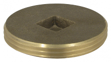 BRASS PLUG - IPS COUNTERSUNK 2-1/2""