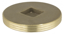 BRASS PLUG - IPS COUNTERSUNK 3""