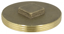 BRASS PLUG - IPS RAISED HEAD 3-1/2""