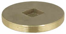 BRASS PLUG - IPS COUNTERSUNK 3-1/2""