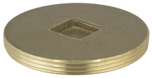 BRASS PLUG - IPS COUNTERSUNK 4""