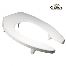 TOILET SEAT - HEAVY DUTY ELONGATED LIFT SEAT - 3""