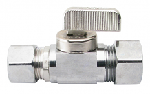 STRAIGHT STOP VALVE (BALL TYPE) - 5/8 OD X 1/2 COMP