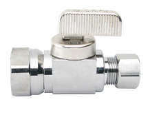 STRAIGHT STOP VALVE (BALL TYPE) - 3/8 IPS X 3/8 OD