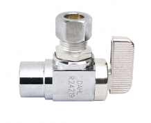 "ANGLE STOP VALVE (BALL TYPE) - 1/2"" SWEAT X 3/8 OD"