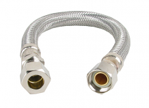 "SUPPLY LINE FAUCET-12"" 3/8"" MALE COMP X 3/8"" FEM COMP"