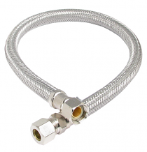 "SUPPLY LINE FAUCET-20"" 3/8"" MALE COMP X 3/8"" FEM COMP"