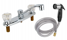 CP  BRASS WASHERLESS KITCHEN FAUCET W/ SPRAY