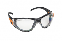 SAFETY GOGGLES - FOAM LINED W/ TEMPLES