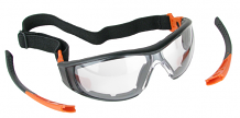 SAFETY GOGGLES - FOAM LINED W/ TEMPLES & STRAP