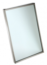"24"" X 30"" S/S CHANNEL FRAME MIRROR"