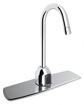 "OPTIMA PLUS GOOSENECK FAUCET TRIM PLATE 8"" - 2.2 GPM (BATTERY POWERED)"