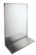 "16"" X 20"" S/S FRAME MIRROR W/SHELF"