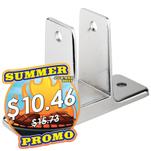 """DOUBLE EAR WALL BRACKET 1"""" x 2-1/2"""" FOR TOILET PARTITION"""