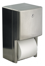 TOILET TISSUE DISPENSER DOUBLE ROLL S/S
