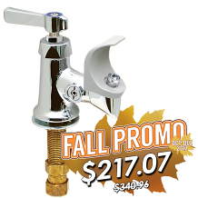 ANTIMICROBIAL LEVER DECK MT FOUNTAIN VALVE