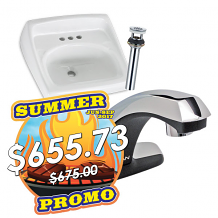 FAUCET, SINK, & DRAIN PACKAGE