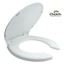 HD REG WHITE O/F CLOSET SEAT W/COVER
