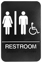WALL ADA SIGN W/CHAIR & BRAILLE